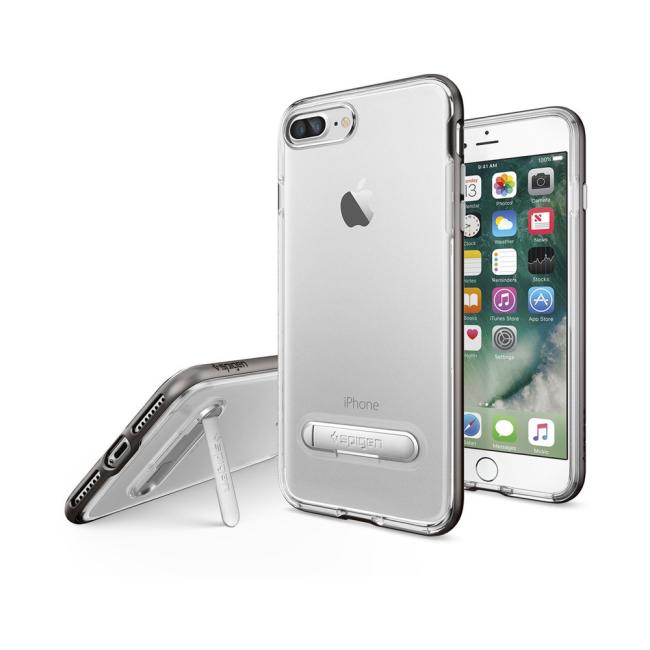 Image of   Spigen Crystal Hybrid cover til iPhone 7 Plus/8 Plus Gun Metal