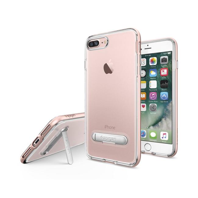 Image of   Spigen Crystal Hybrid cover til iPhone 7 Plus/8 Plus Rose Gold