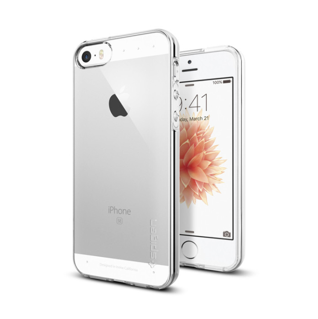 Image of   Spigen Liquid Air cover til iPhone 5/5S/SE Klar
