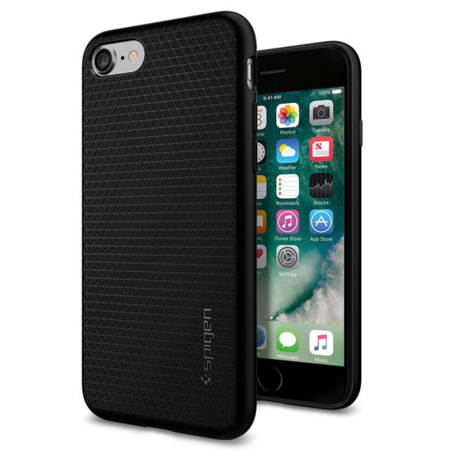 Image of   Spigen Liquid Air cover til iPhone 7/8 Sort