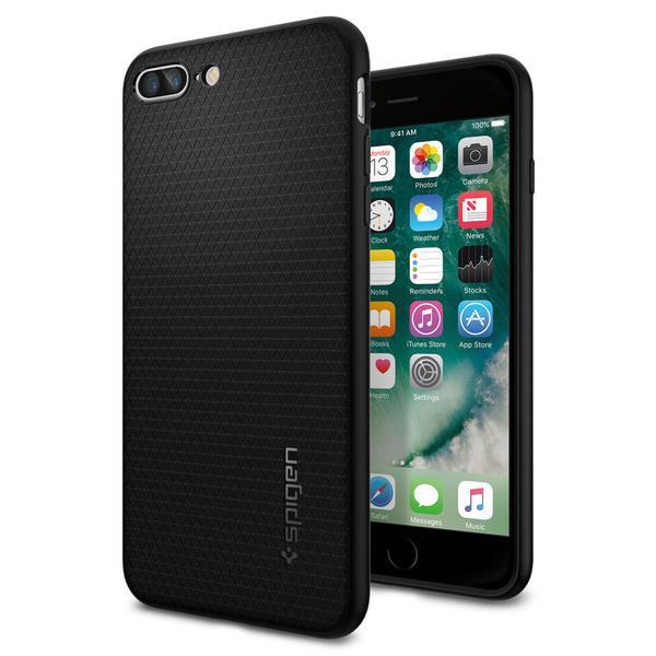 Image of   Spigen Liquid Air cover til iPhone 7 Plus/8 Plus Sort