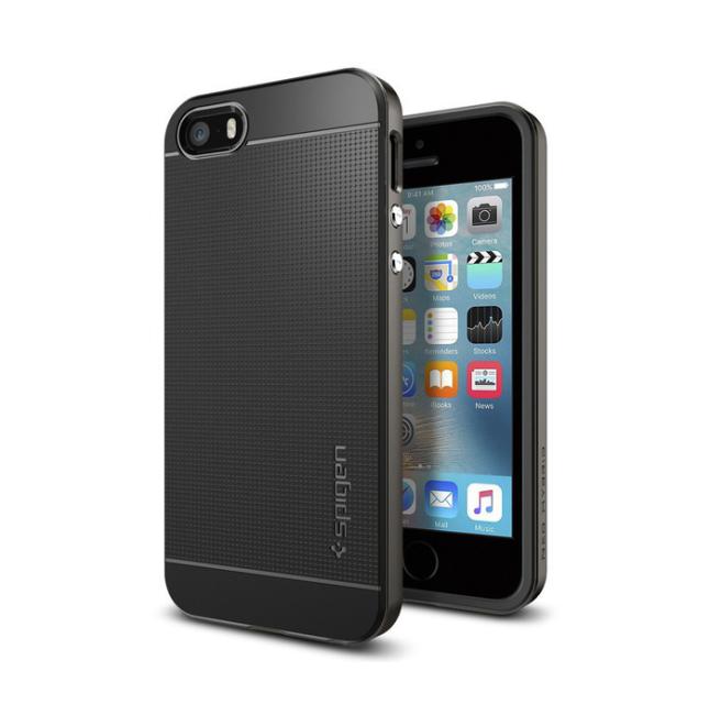 Image of   Spigen Neo Hybrid til iPhone 5/5S/SE Sort