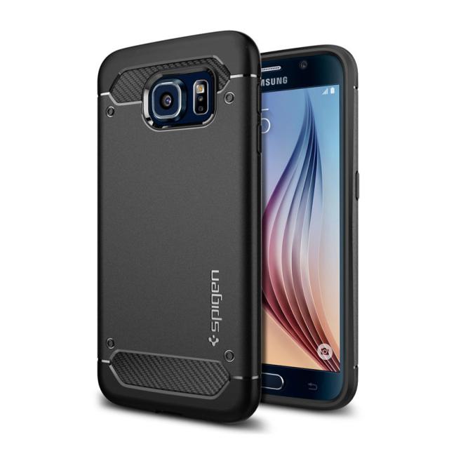 Image of   Spigen Rugged Armor cover til Samsung Galaxy S6