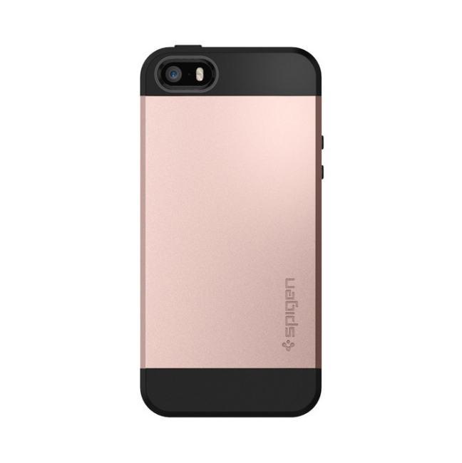 Spigen Slim Armor cover til iPhone 5/5S/SE rose gold