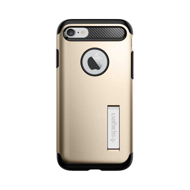 Image of   Spigen Slim Armor cover til iPhone 7/8 Champagne Gold