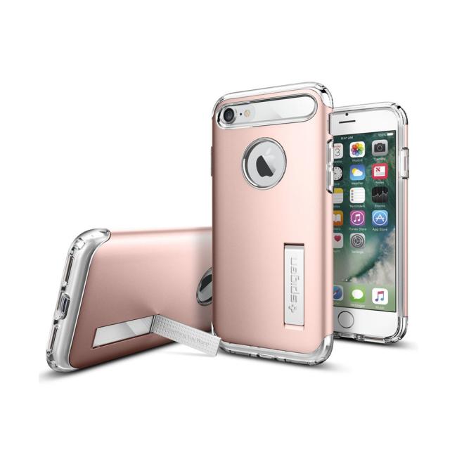 Image of   Spigen Slim Armor cover til iPhone 7/8 Rose Gold