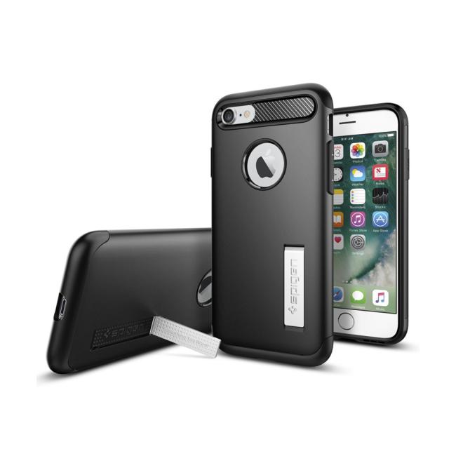 Image of   Spigen Slim Armor cover til iPhone 7/8 Sort