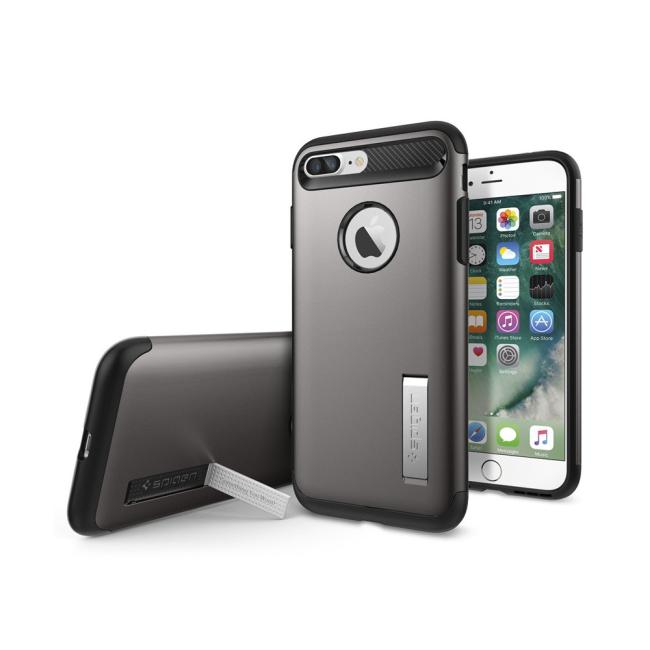 Image of   Spigen Slim Armor cover til iPhone 7 Plus/8 Plus Gun Metal
