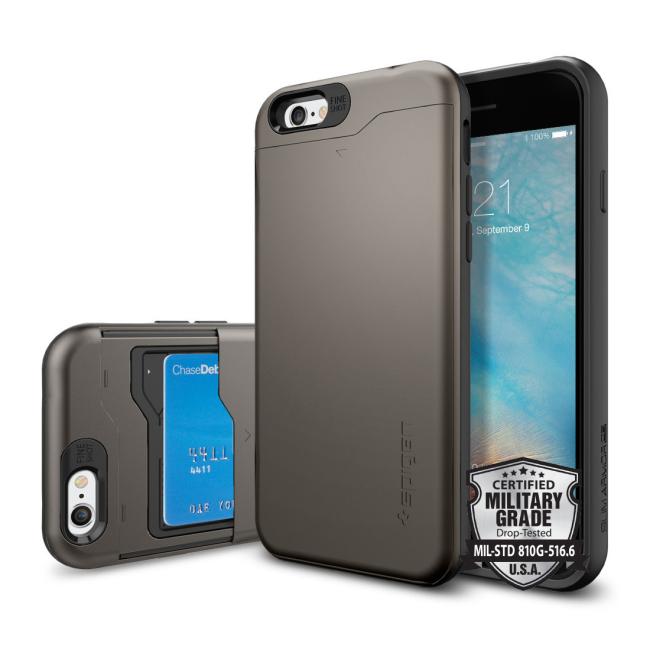Image of   Spigen Slim Armor CS cover til iPhone 6/6S Gun Metal