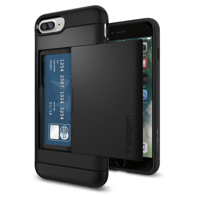 Image of   Spigen Slim Armor CS cover til Phone 7 Plus/8 Plus Sort