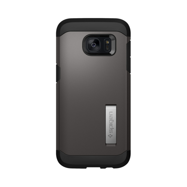 Image of   Spigen Tough Armor til Samsung Galaxy S7 Edge Sort/Gun Metal