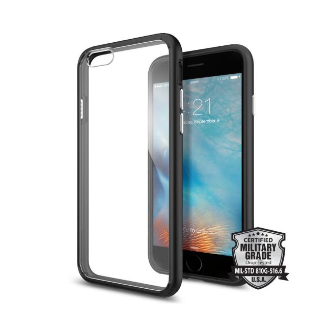 Image of   Spigen Ultra Hybrid cover til iPhone 6/6S Sort