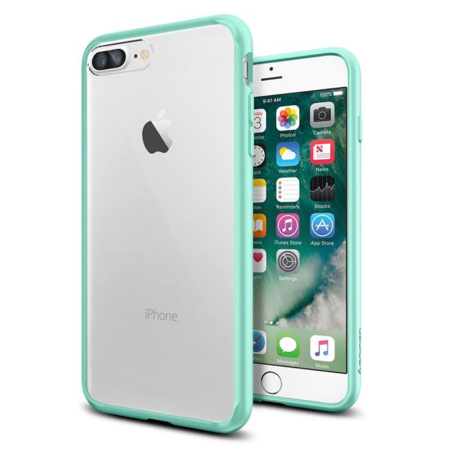 Image of   Spigen Ultra Hybrid cover til iPhone 7 Plus/8 Plus Mint Grøn