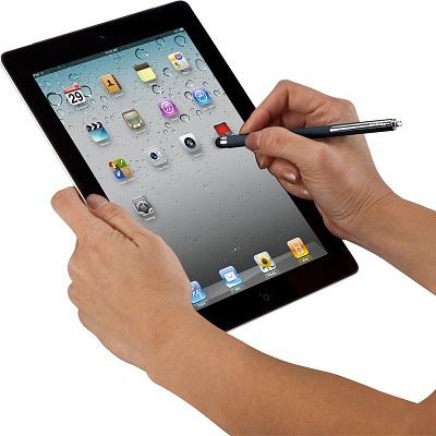 Stylus pen med Kuglepen til iPad / tablet Xqisit Touchpen Hvid