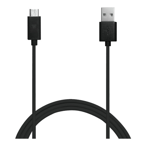 Sync/Charge kabel USB - MicroUSB 1m sort