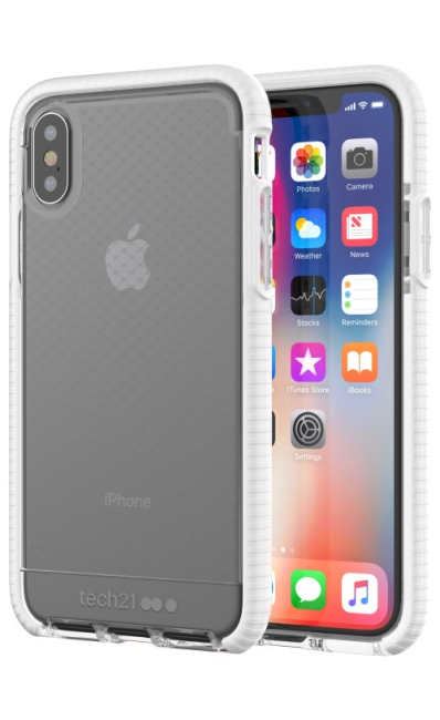 TECH21 EVO CHECK (CLEAR/WHITE IPHONE X)