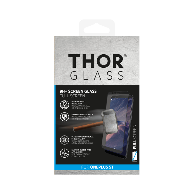 Billede af THOR Glass Full Screen for OnePlus 5T black