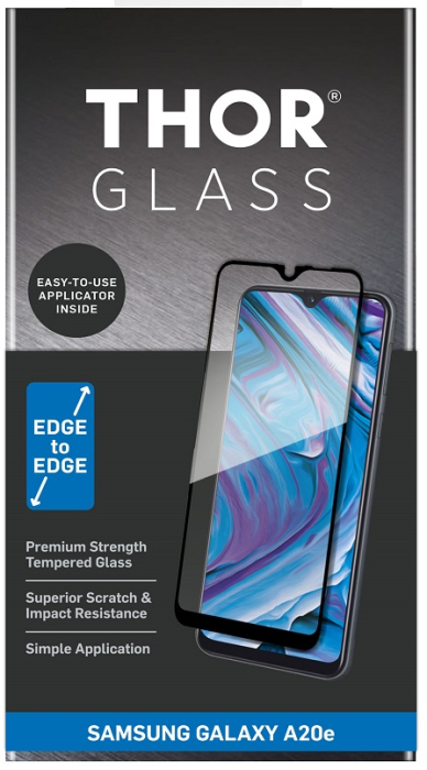 Billede af Thor glass til Samsung Galaxy A20E Full-Screen med applikator Sort