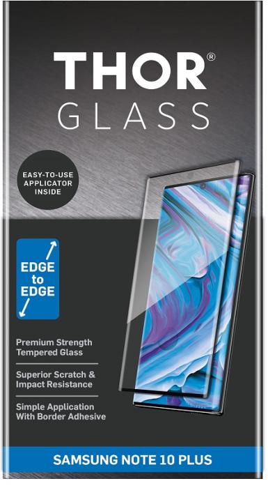 Billede af Thor glass til Samsung Galaxy Note 10+ (Plus) Full-Screen med applikator Sort