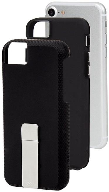 Billede af Case-Mate Tough Stand cover iPhone 8/7/6S/6 Sort/Sølv