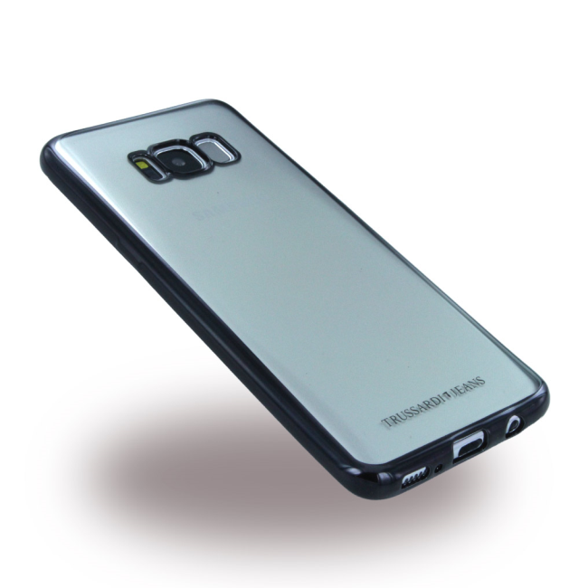 Image of   Trussardi - Black Frame - Silikon Case - Samsung G950 Galaxy S8 - Black