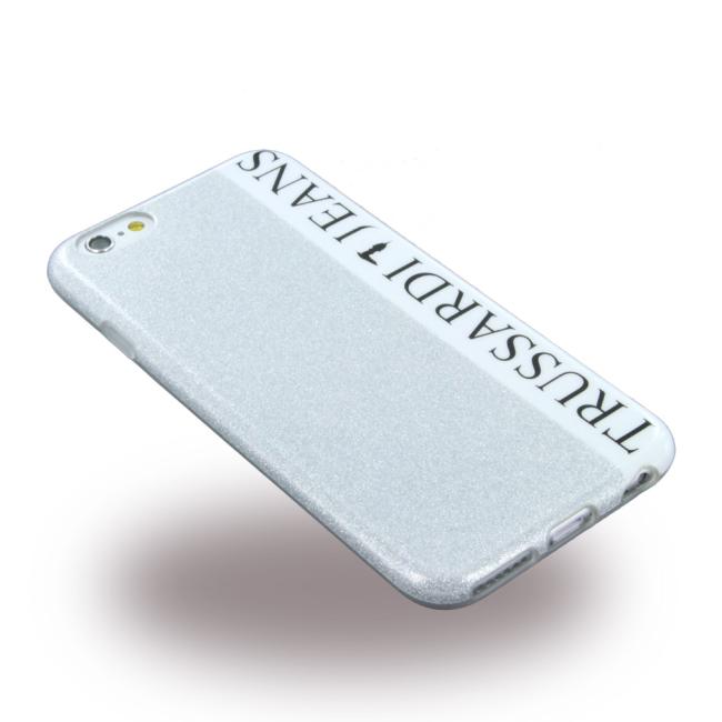 Trussardi - TRU6GLITTERS Glitter - Silicone Cover / Phone Skin - Apple iPhone 6 6S - Silver