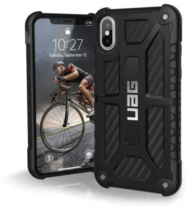 Image of   Apple iPhone X/XS Cover UAG Monarch Carbon