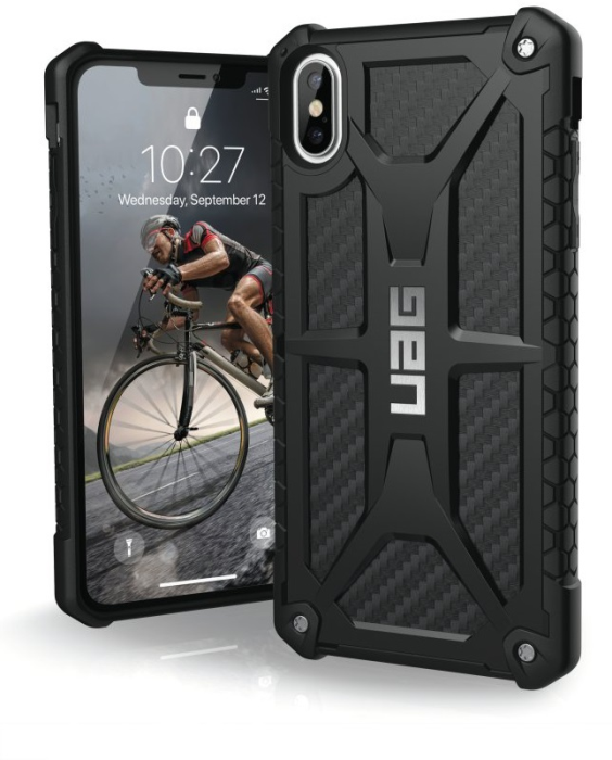 Image of   Apple iPhone XR Cover UAG Monarch Carbon