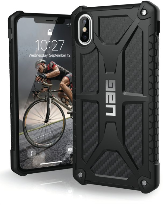 Image of   Apple iPhone XS Max Cover UAG Monarch Carbon