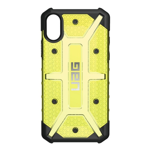 Image of   UAG Plasma cover til iPhone X Sort/Gul