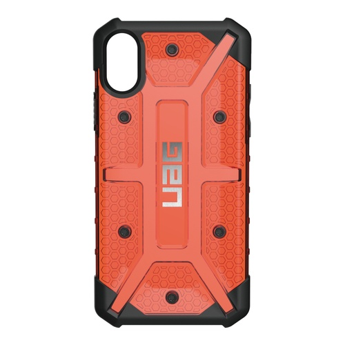 Image of   UAG Plasma cover til iPhone X Sort/Rød