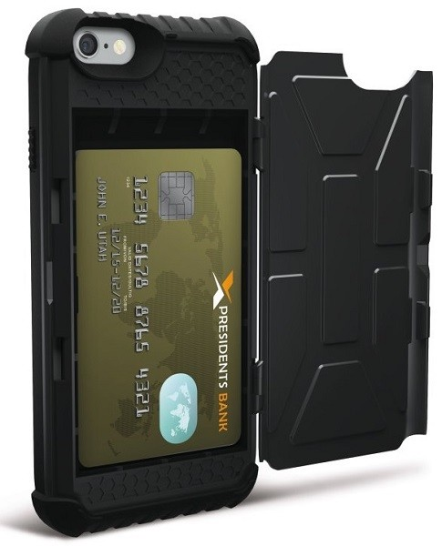 Billede af Urban Armor Gear Trooper Card Case til iPhone 7 / 6S / 6 Sort