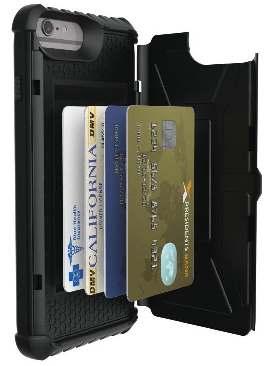 """Billede af Urban Armor Gear Trooper Card Case til iPhone 7 Plus / 6/6S Plus (5.5"""") Sort"""