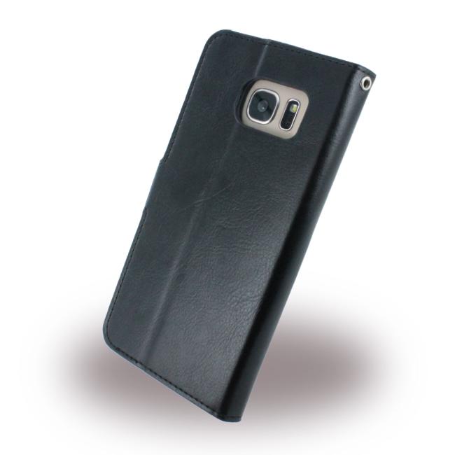 Image of   Uranus - Book Case / Book Cover - Samsung G935F Galaxy S7 Edge - Black