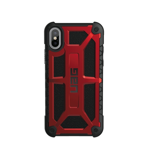 Urban Armor Gear Monarch Cover iPhone X Rød/Sort