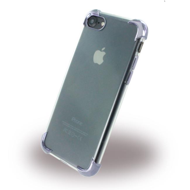 Image of   UreParts - Black Corner Silicone Cover / Phone Case - Apple iPhone 7 8 - Transparent Black