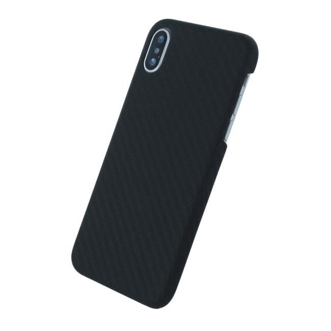 Image of   UreParts - Black Edition - Carbon Hard Cover - Apple iPhone X - Black