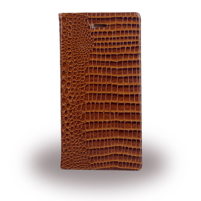 c7cec12d0695 UreParts - Croco Leather Book Cover   Book Case - Apple iPhone 6 6s - Brown