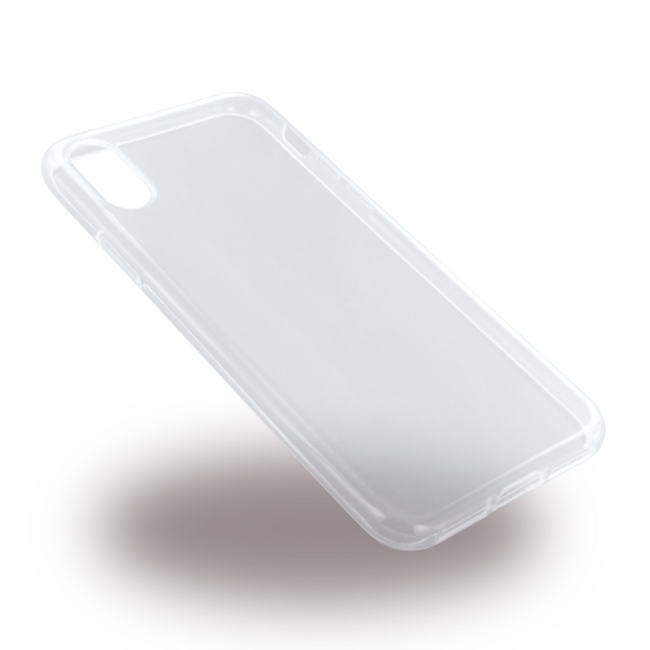 Image of   UreParts Gennemsigtigt Silikone Cover iPhone X