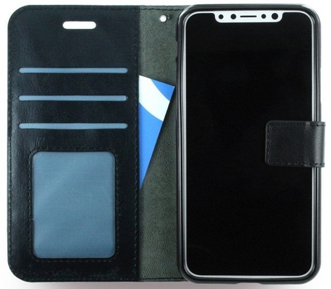 Image of   UreParts Kunstlæder Wallet cover iPhone X Sort