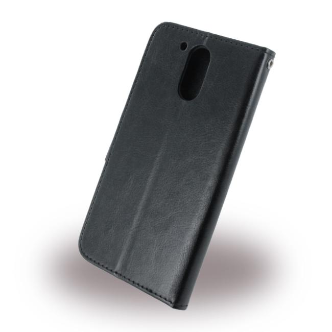 big sale d6e8f 4ff13 UreParts - Leatherette Book Cover   Book Case - Motorola G4 G4 Plus - Black
