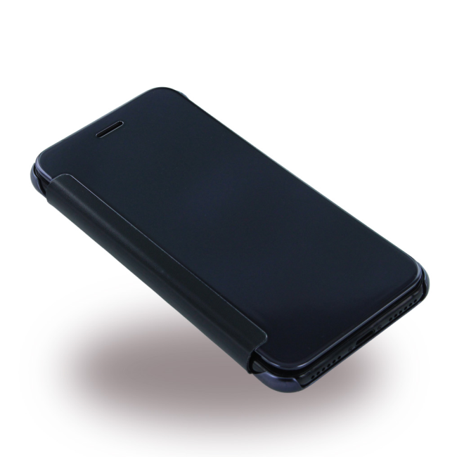 b705299e UreParts - Luxury Folio Clear View - Book Cover / Book Case - Apple iPhone  7 - Black