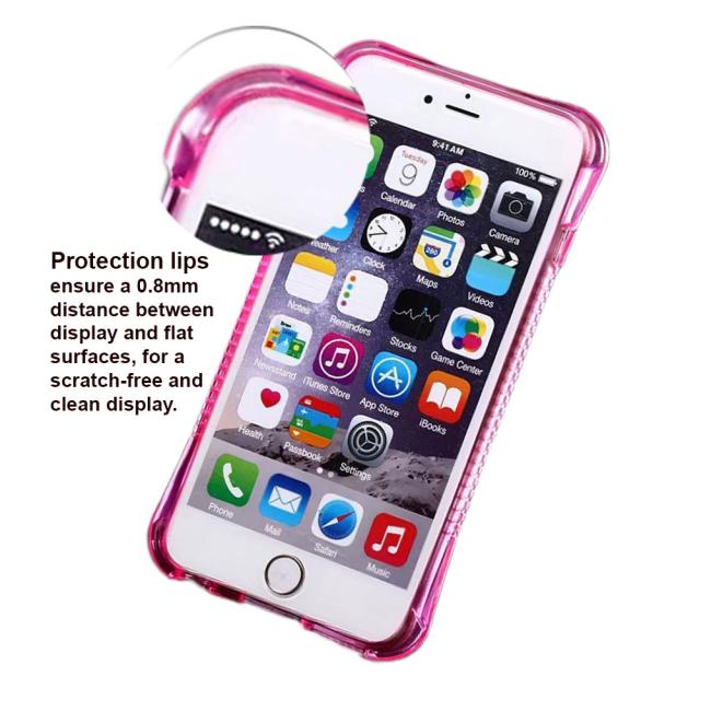 UreParts - TPU Cover / Case - Apple iPhone 6 6s - Transparent/ Pink