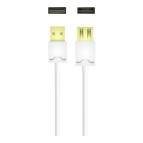Image of   USB 2.0 type A male - type A female 3m White