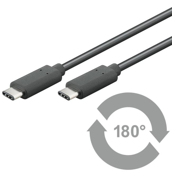Image of   USB-C til USB-C (Type-C) Kabel Qnect Superspeed+ 1 meter