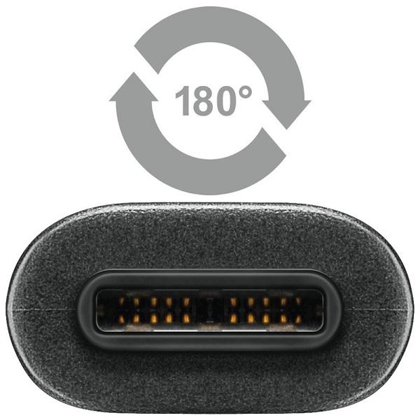 Image of   USB-C til USB Data- og ladekabel Qnect Superspeed+ Type-C 1 meter