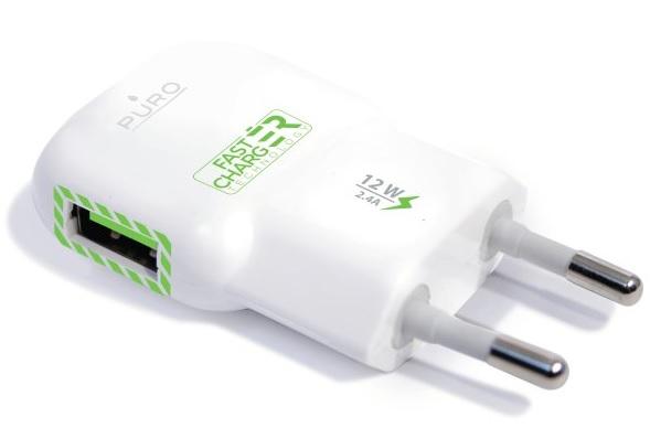 Billede af Puro Mini rejselader med 2.4A USB port og Fast Charging