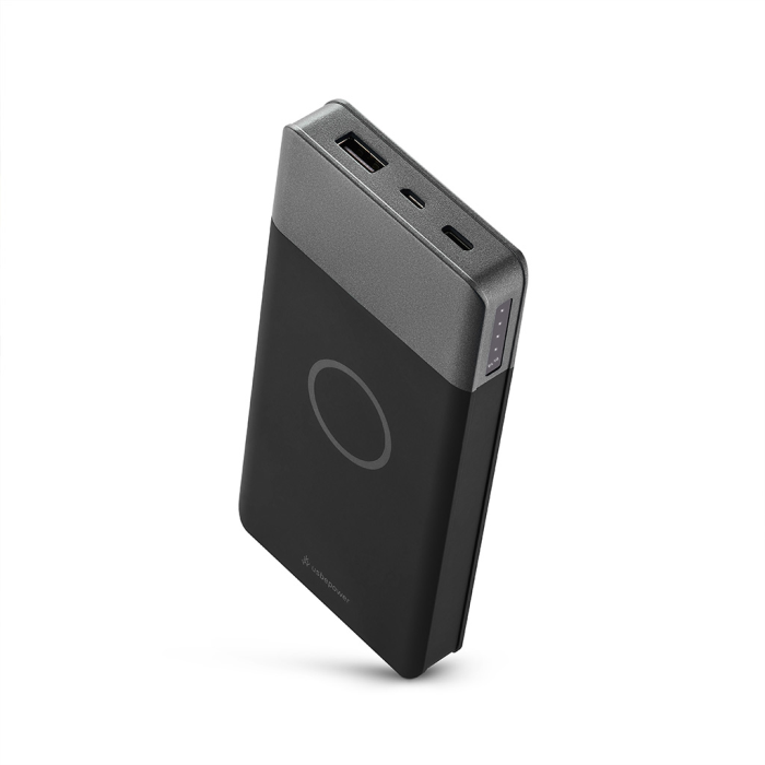 Image of   Usbepower AIR Plus Wireless - trådløs powerbank 10000mAh - Mørkegrå