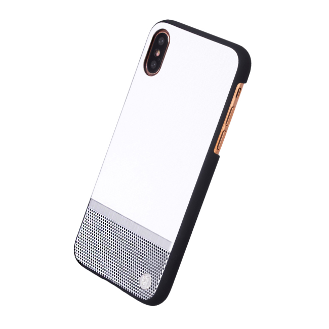 Image of   Uunique - Perforation - Hard Cover - Apple iPhone X - White/Silver
