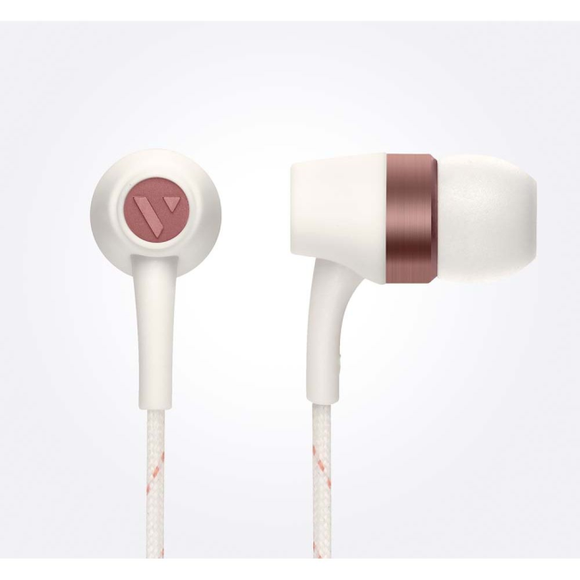 Image of   VAIN STHLM Originals In-Ear Earphones with Mic and Remote in Broken White